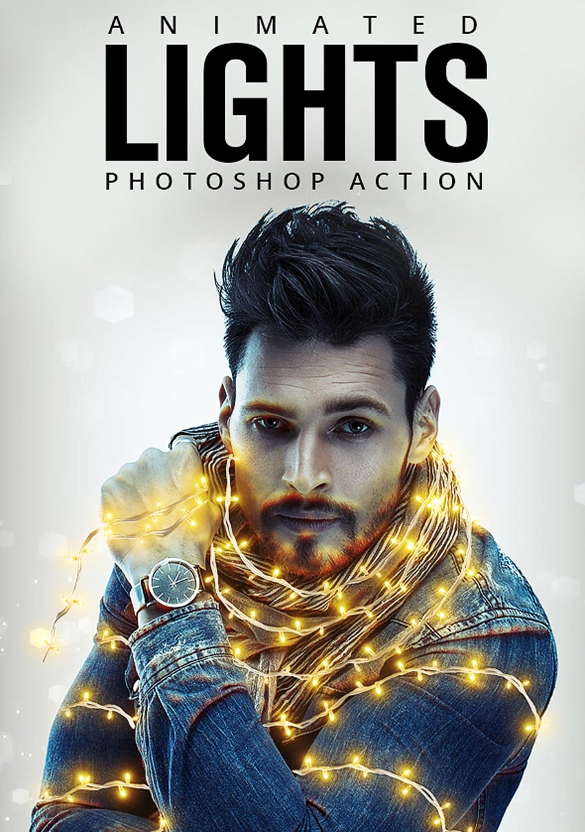 Animated Lights Photoshop Action
