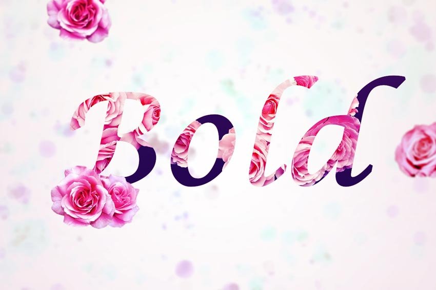 How to Create a Bold Floral Text Effect Quickly in Adobe Photoshop