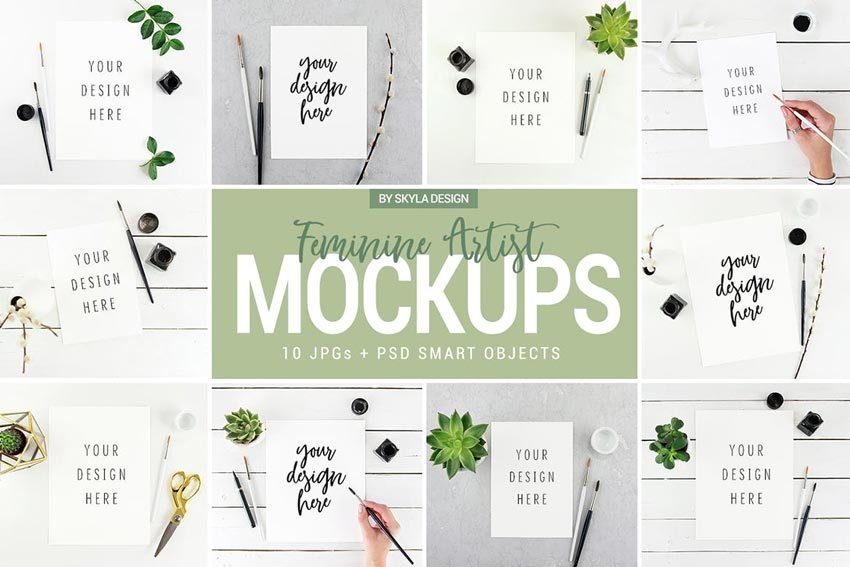 25+ Best Free PSD Mockups (Photoshop Templates for 2018)