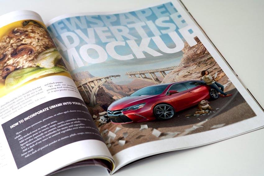 Magazine Advertisement Mockups