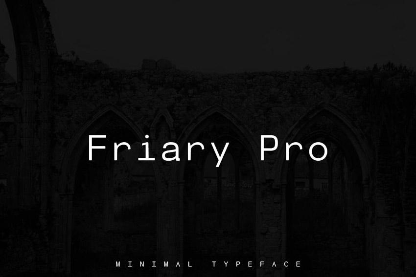 Friary Pro Typeface