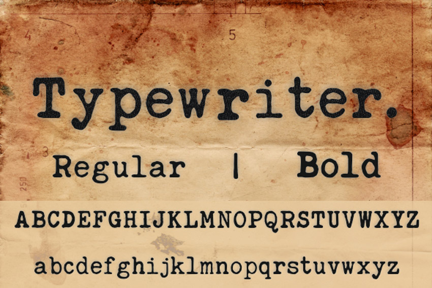 Image of: Flask Typewriter Font Deskgram 20 Best Classic Typewriter Fonts With Old vintage Machine Styles