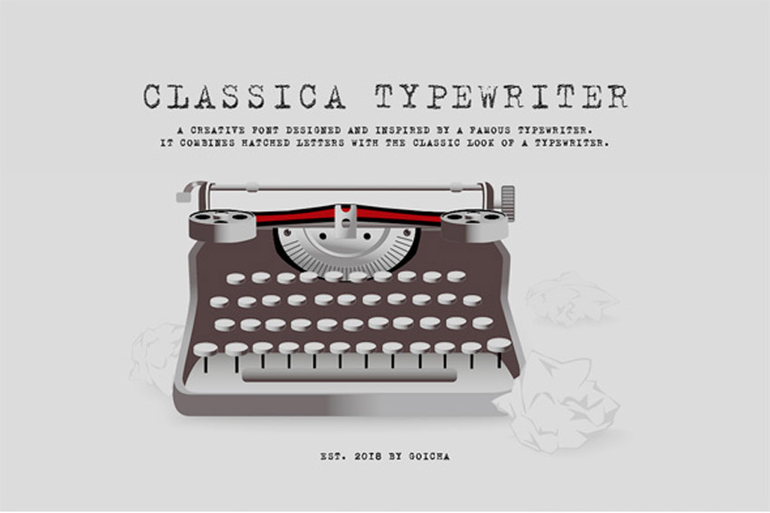 Image of: App Classica Hatched Typewriter Font Google Play 20 Best Classic Typewriter Fonts With Old vintage Machine Styles