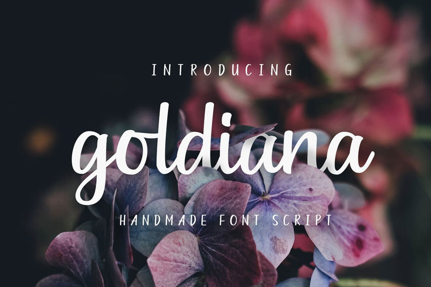 Goldiana Font Script