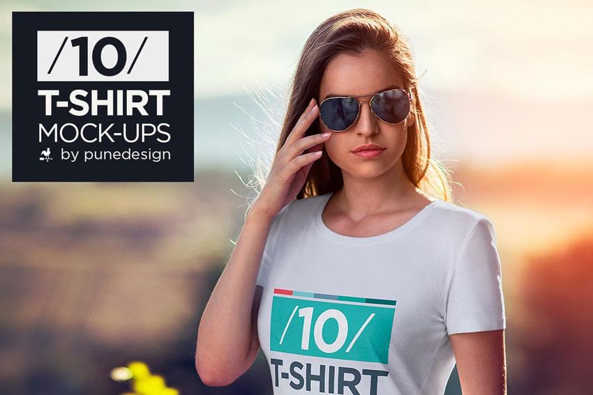 10 T-Shirt Mock-Ups