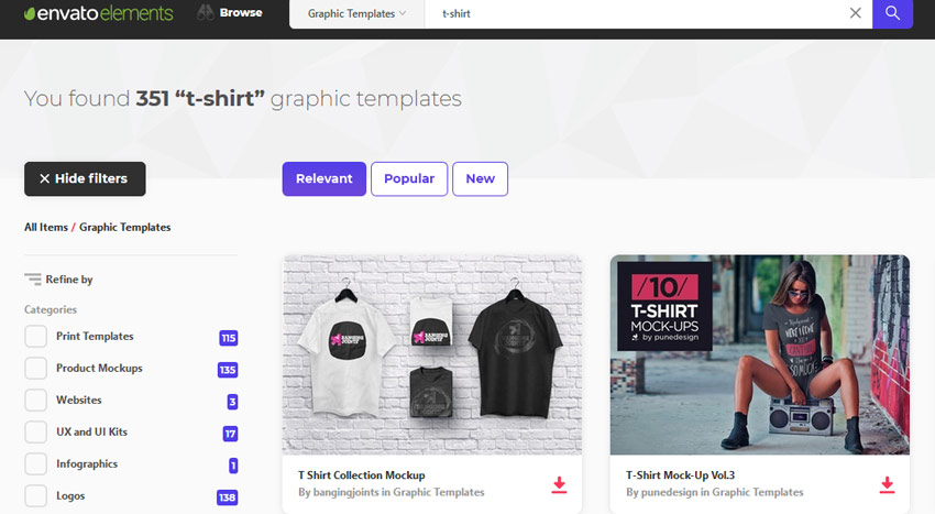 Envato Elements T-shirt Mockups