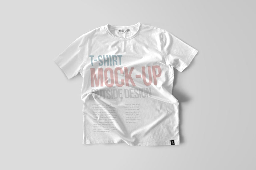 Basic White T-Shirt Mockup