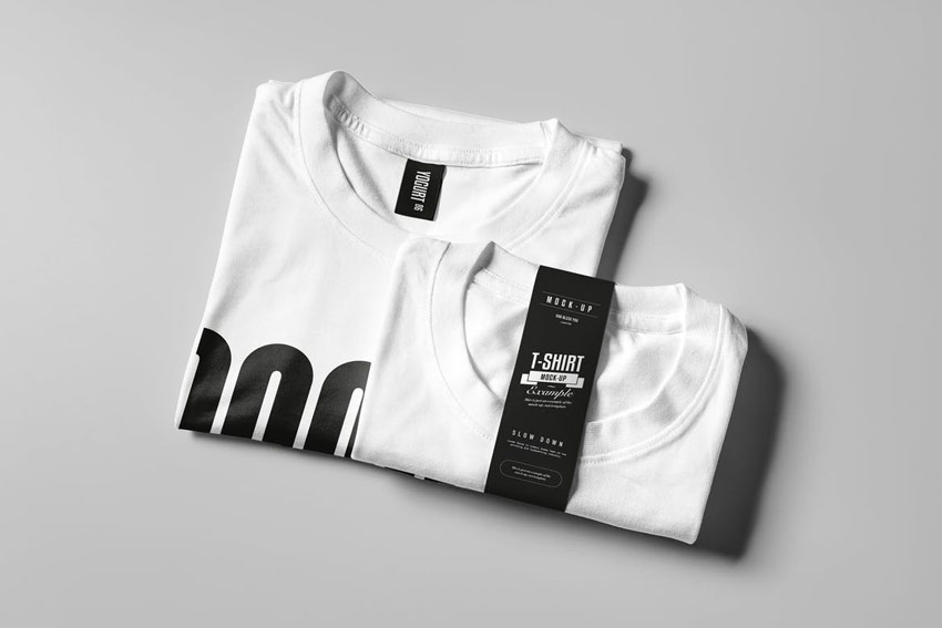 Folded T-Shirt Mock-up