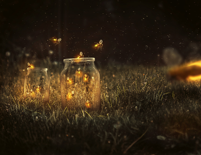 How to Create a Glowing Fireflies Photo Manipulation in