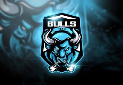 team esport mascot bulls logos sports sport esports names templates text template squad vector tutsplus creativemarket mascots fonts psd graphic