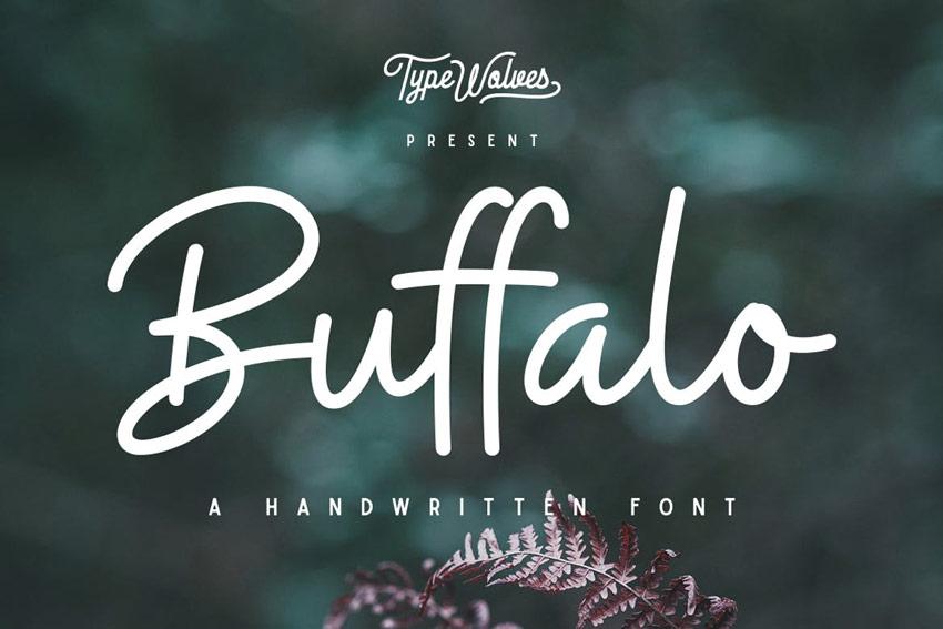 Buffalo Handwritten Font