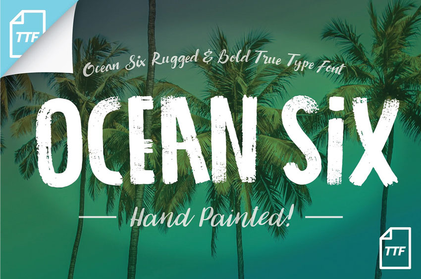 Ocean Six Brush Font