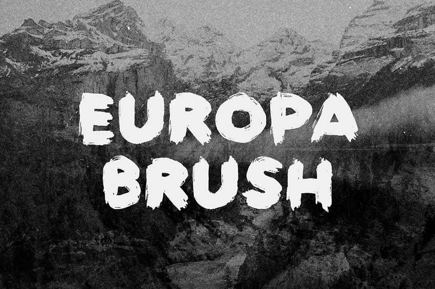 Europa Brush Font