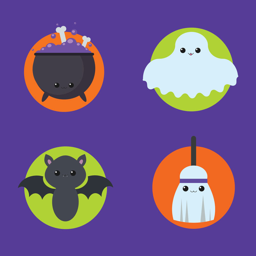 How to Create a Set of Kawaii Halloween Icons in Adobe Illustrator