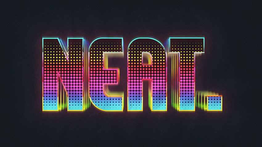 How to Create a Retro Colorful Halftone Text Effect in Adobe Photoshop