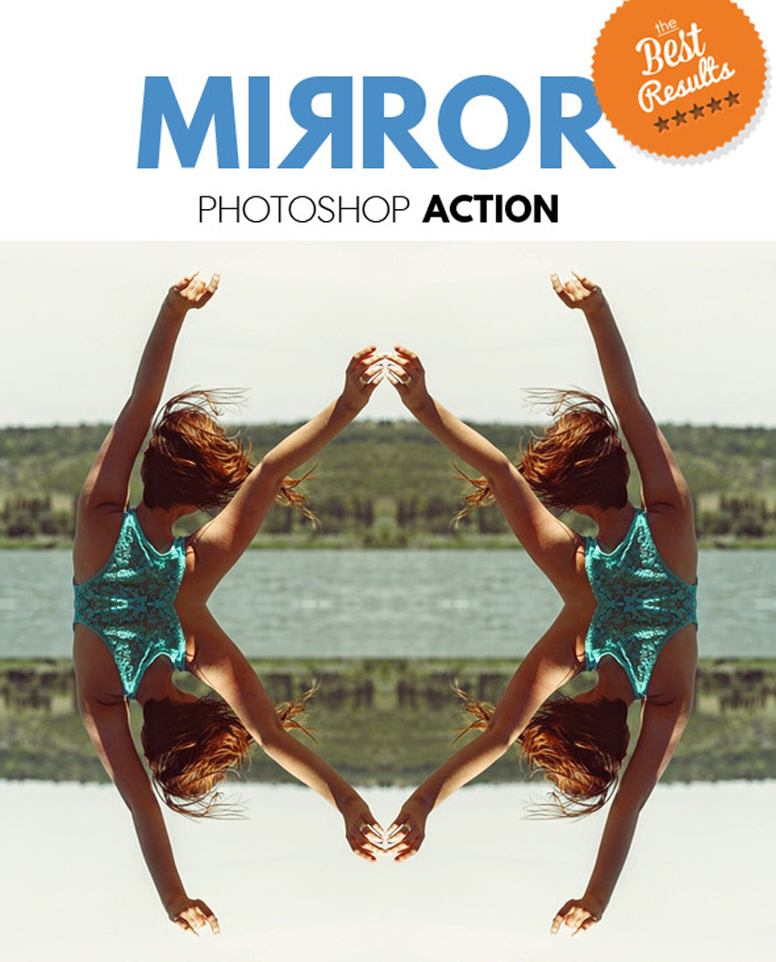 Mirror Reflection Photoshop Action