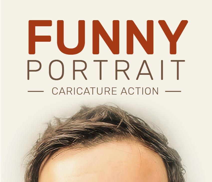 Funny Portrait Caricature Action