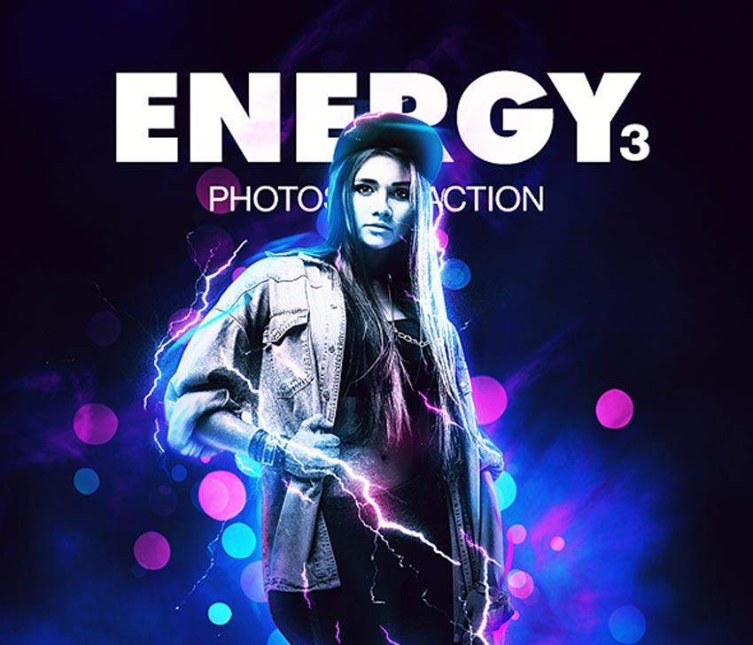 Energy 3 Photoshop Action
