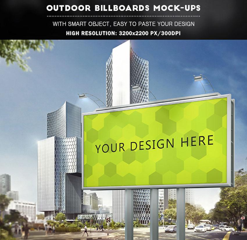 Outdoor Billboards Mock-Ups