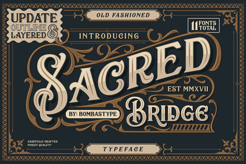 Sacred Bridge Display Font