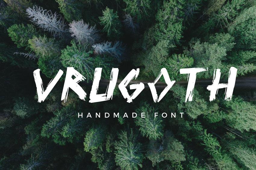Vrugoth - Handmade Font