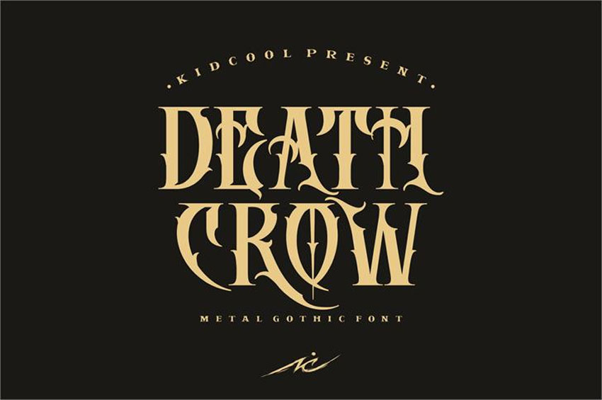 Death Crow Font