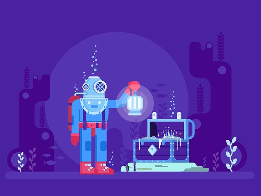 How to Create a Deep Diving Illustration in Adobe Illustrator