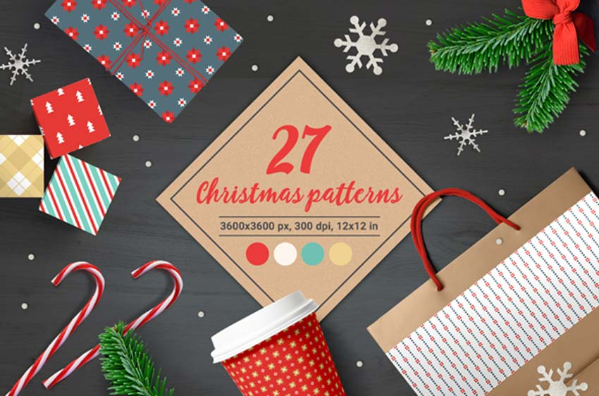 27 Christmas Seamless Patterns