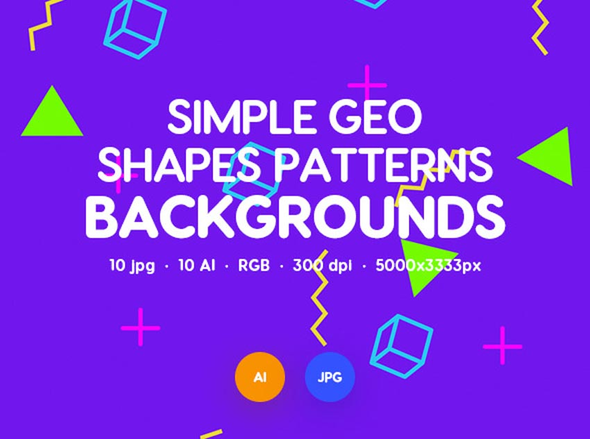 Simple Vector Geometric Shapes Patterns