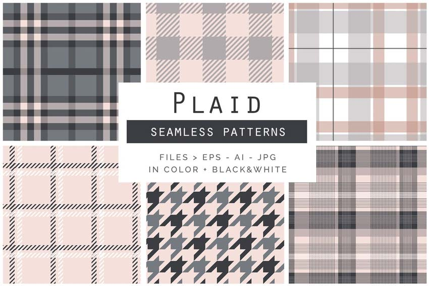 Plaid Seamless Line Patterns