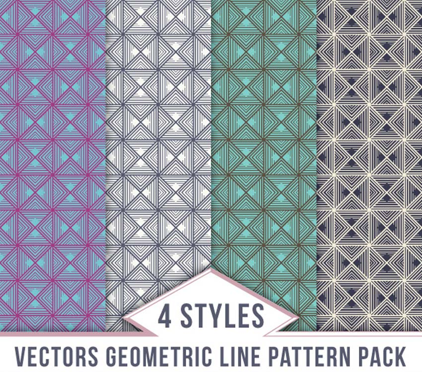 Vector Geometric Line Pattern Pack