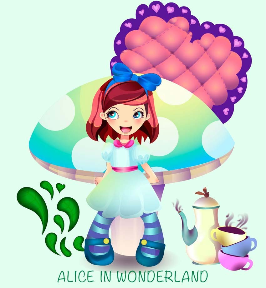 Create Two Colorful Childrens Book Illustrations in Illustrator