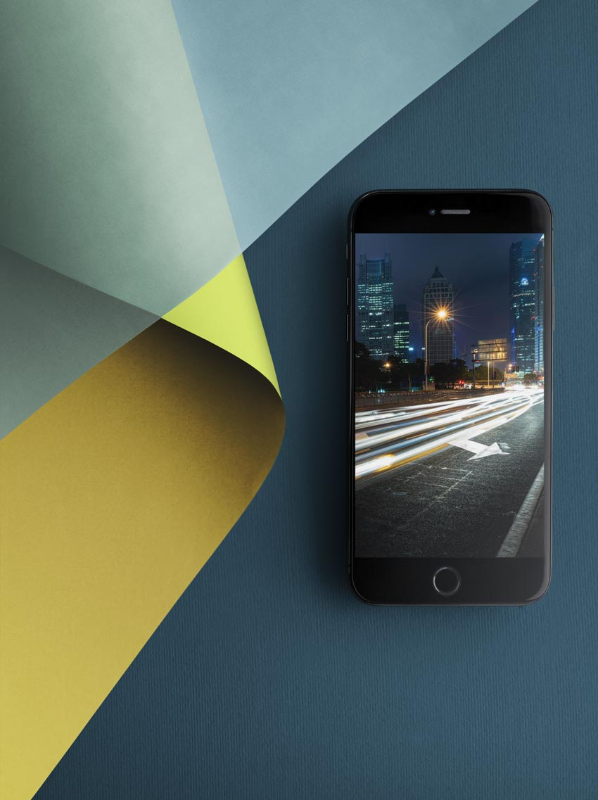 iPhone Mockup on Creative Surface