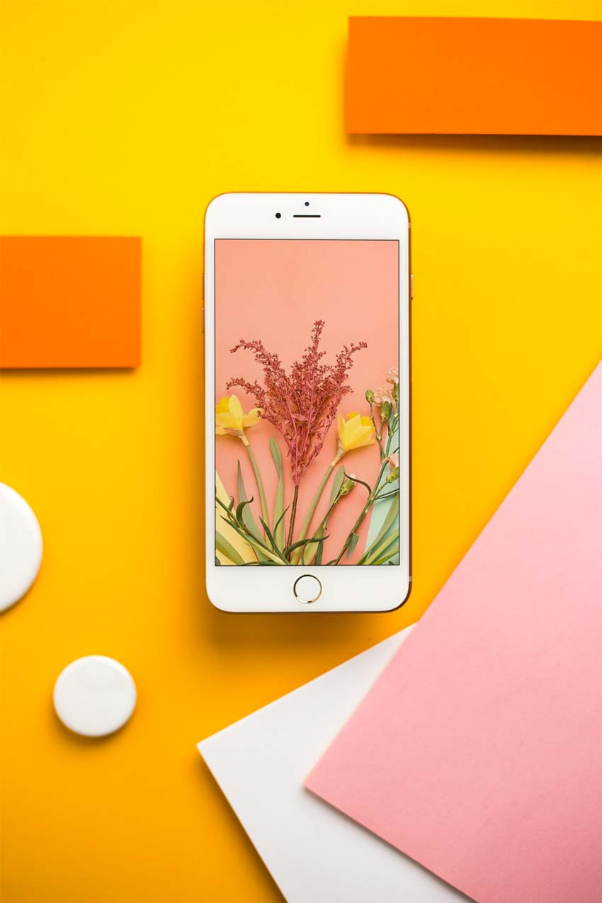 Gold iPhone Mockup Template