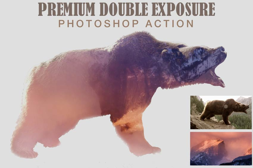 Premium Double Exposure Photoshop Action