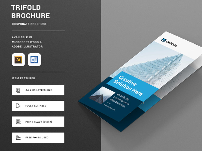 20+ Creative Microsoft Word Brochure Templates – Creative Touchs
