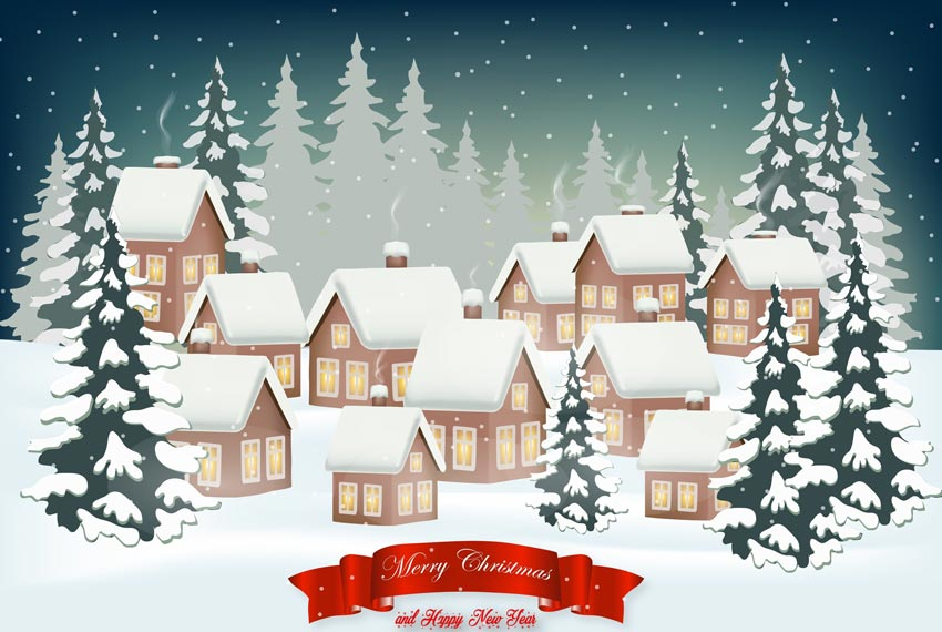How to Create a Christmas Winter Background Design With Mesh in Adobe Illustrator