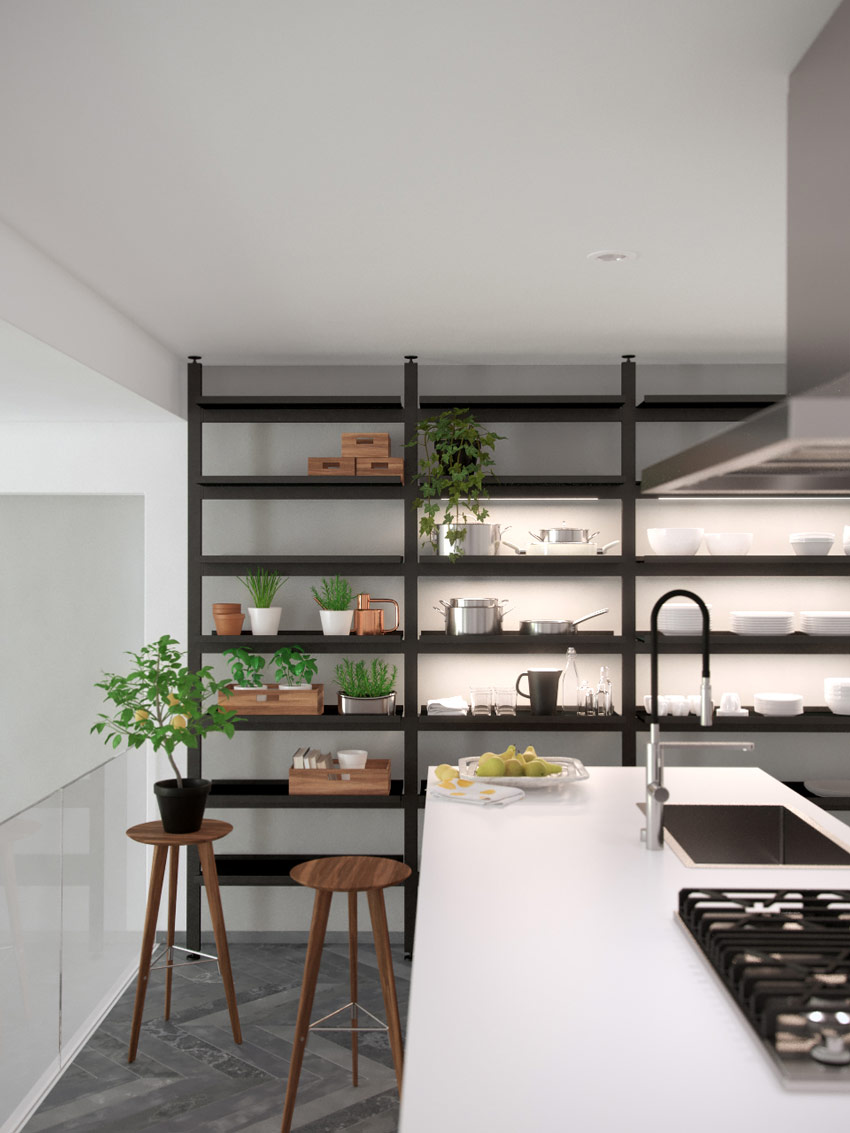 NY Flower Box Apartment - Kitchen