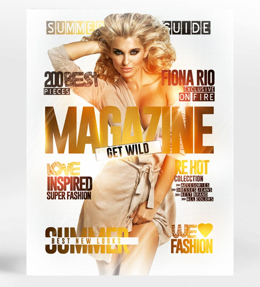 Magazine Cover Flyer Template