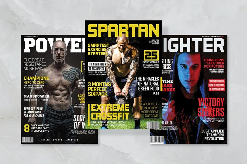 3 Sport Magazine Covers