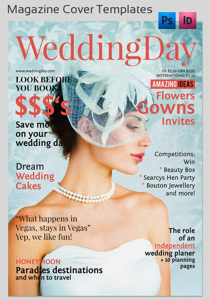 Wedding Magazine Cover Templates