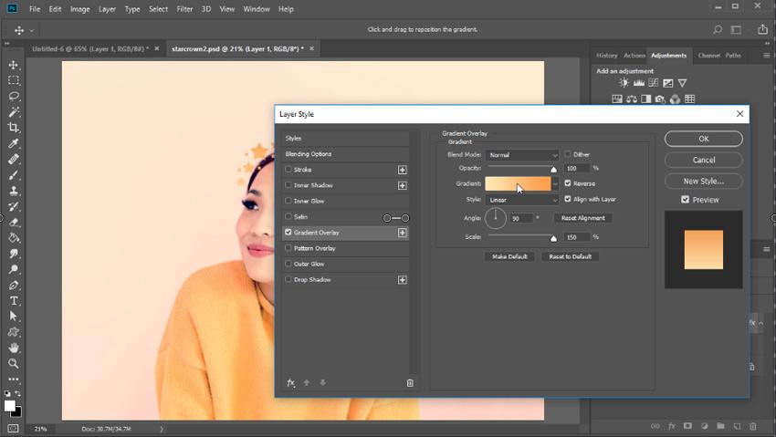 Add a gradient overlay