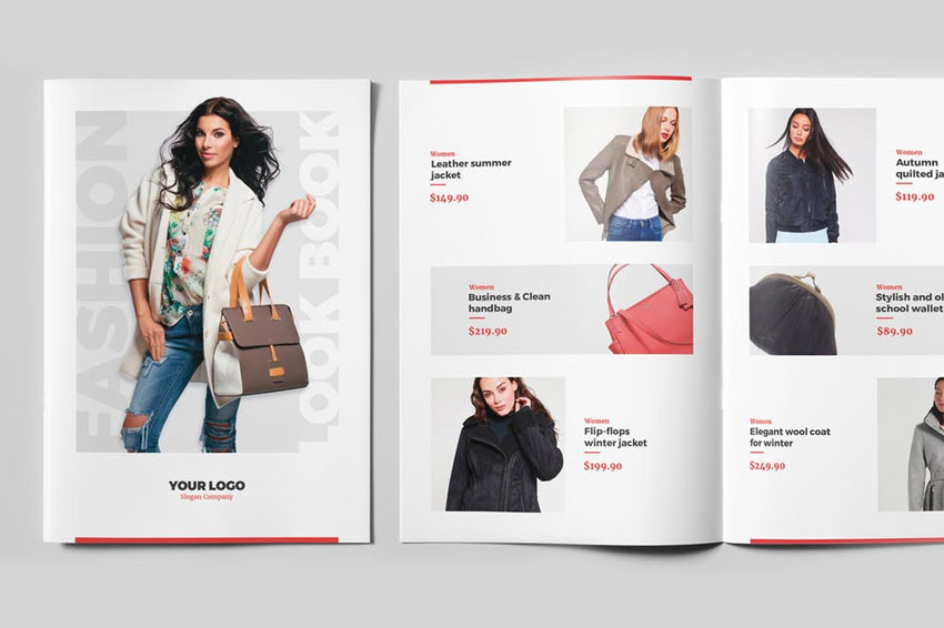 Newsletter  Fashion Look Book Bi-Fold