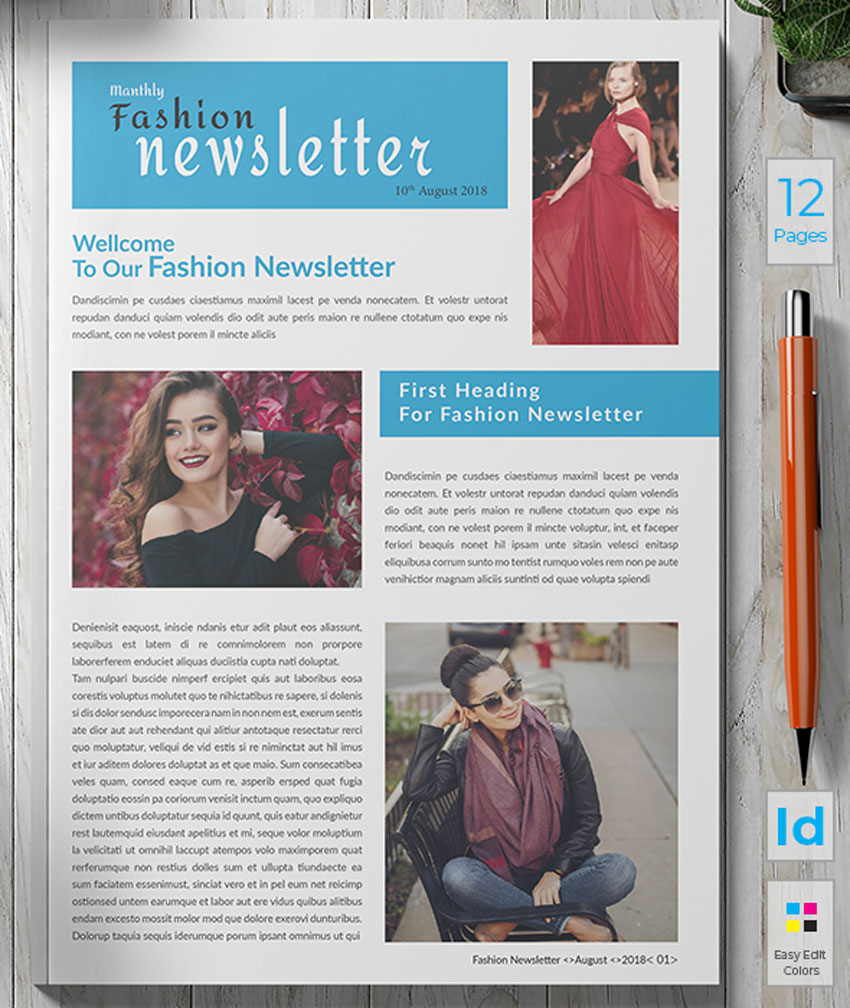 33 Best Indesign Newsletter Templates New For 2019