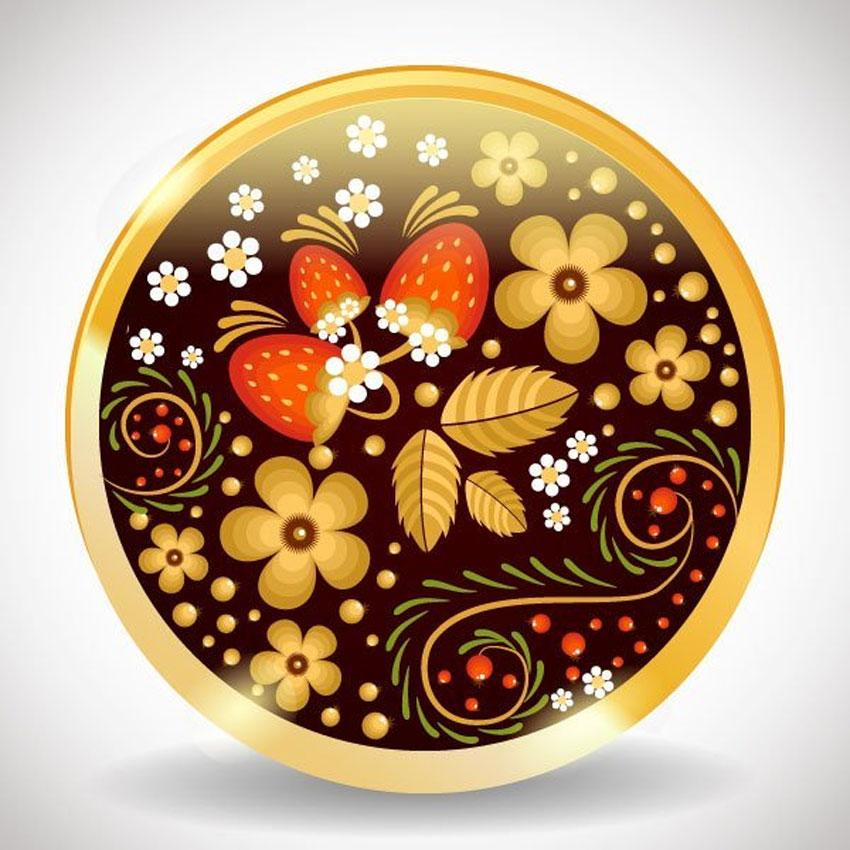 Create a Traditional Russian Khokhloma Ornament in Illustrator