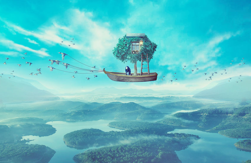 How to Create a Surreal Boat Photo Manipulation With Adobe Photoshop