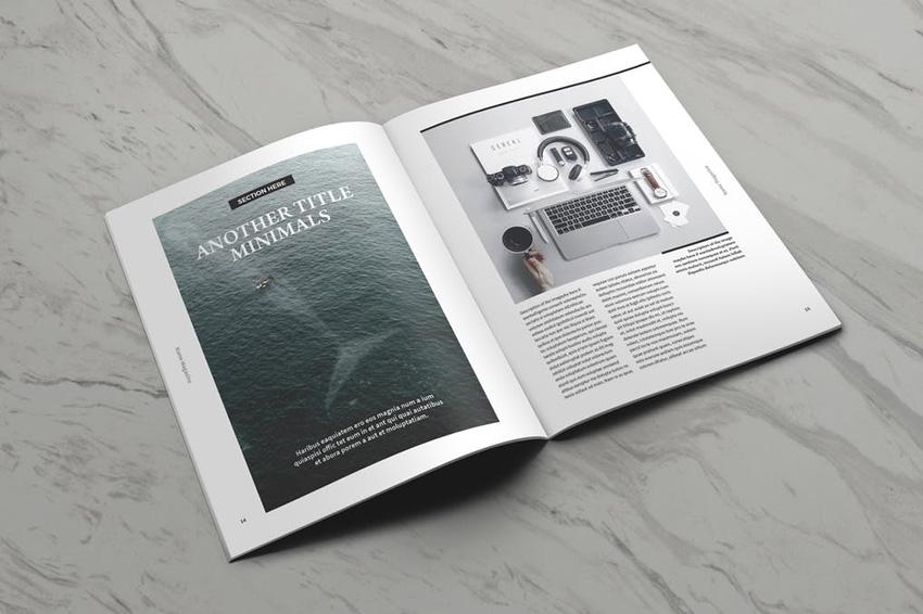 摩尔空白杂志封面模板