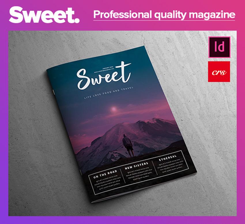 甜杂志模板