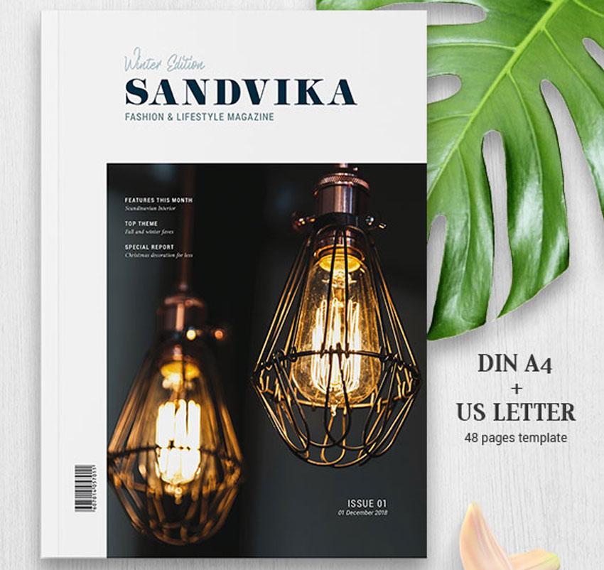 SANDVIKA杂志模板