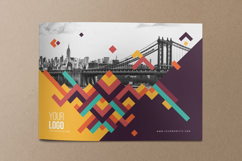 Colorful Pattern Brochure Template